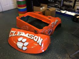custom painted clemson tigers golf cart body custom carts