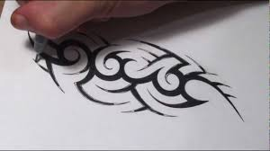how to create a hidden tribal name tattoo design youtube