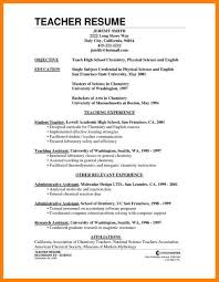 Objective For Teacher Resume First Year Teacher Resume Samples Free Resume Example And