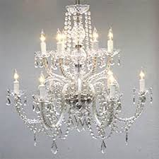 How To Make Crystal Chandelier Crystal Chandelier Lighting 33ht X 28wd 8 Lights Fixture Pendant