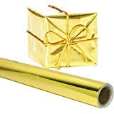 gold wrapping paper rich solid color jumbo gift wrap party supply gold