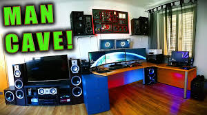 insane gaming setup wall mounted pc home cinema funniest man