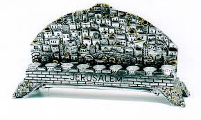 hanukkah menorahs for sale buy jerusalem skyline silver hanukkah menorah menorahs for sale