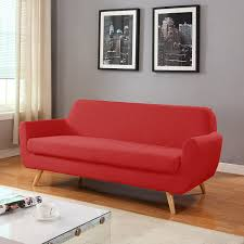 Red Modern Furniture by Amazon Com Mid Century Colorful Linen Fabric Sofa Loveseat In