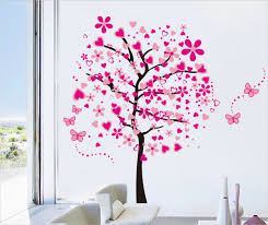 wall designs home decor wall beautiful pink butterfly