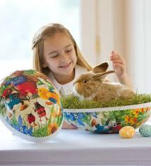 paper mache easter bunny german paper mache easter eggs german easter traditions