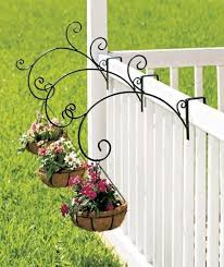 new set of 3 or single porch railing balcony metal plant holder