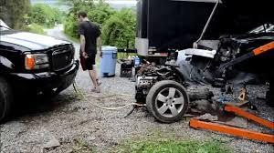 audi a6 engine quattro transmission subframe removal time lapse