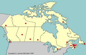 canadian map capitals test your geography knowledge canada provincial capitals