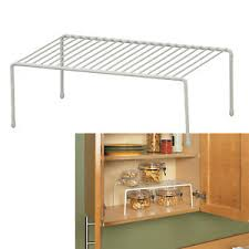 kitchen cupboard storage ideas ebay details about large shelf kitchen cabinet countertop space saver canned goods container shelf