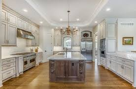 gray walls with stained kitchen cabinets 30 antique white kitchen cabinets design photos