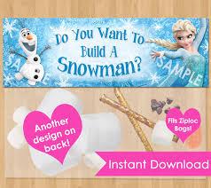 frozen bag toppers instant download printable frozen favor