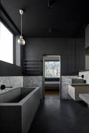 best 10 black bathrooms ideas on pinterest black tiles black writer s house by branch studio architects