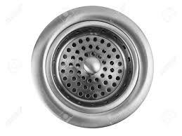 Kitchen Sink Drains Stainless Steel Kitchen Sink Drain On White Background Stock Photo