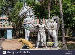statue of the god madurai veeran mandavi tamil nadu india stock