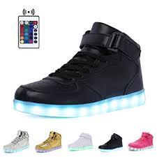 high top light up shoes amazon com high top velcro led light up shoes 7 colors usb