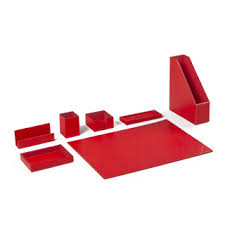 red office desk accessories desk accessory sets red leather accessories set arenson office