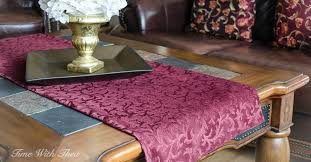 how to make table runner at home coffee table runner easy sewing tutorial time with thea