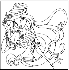 sailor flora winx club coloring picture for kids winx club