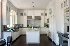 Kitchen White Cabinets Black Countertops Kitchen Exquisite Pictures Of Kitchens Traditional White Kitchen