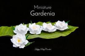 Gardenia Flower Mini Crochet Gardenia Flower By Happy Patty Crochet