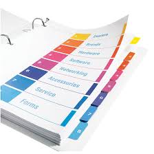 avery 15 tab table of contents color template avery ready index 1 10 tab table of contents dividers for laser and
