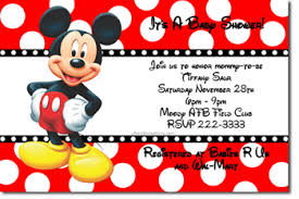mickey mouse baby shower invitations baby shower invitations design your own baby shower cards do it