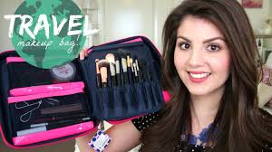 traveling makeup artist what s in my travel makeup bag travel makeup review