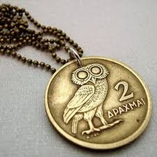 necklace owl images Greek owl of athena coin necklace owl necklace jpg