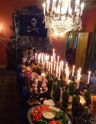 candles for halloween captain hooks feast pirate party food pirate party dinning room