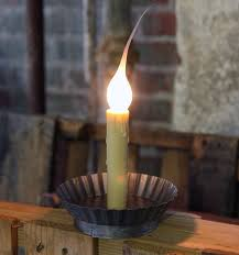 Window Candle Lights Electric Primitive Non Flicker 4 5 Inch Candle Lamp Antique Pewter