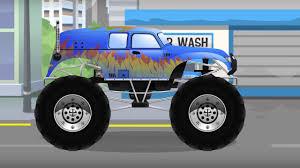 power wheels bigfoot monster truck cars for kids the blue monster truck car videos cv power