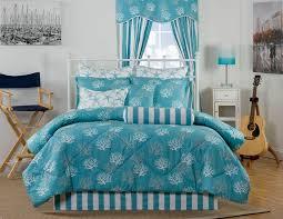 Comforter Sets Made In Usa Captiva Ocean Coral Blue U0026 White Coastal Beach Bedding Comforter