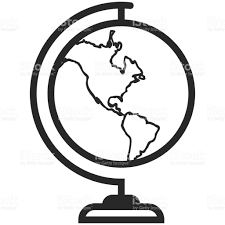 Simple Vector World Map by Simple Vector Icon Of A Classic Globe In Line Art Style