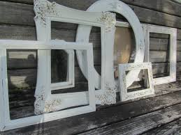 picture frame shabby chic decor shabby chic frame mirror frame set