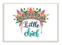 chief wall mounts stupell industries the kids room u0027little chief with feathers