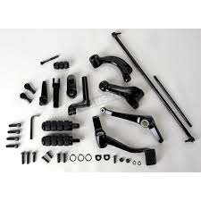 drag specialties black forward control kit 2 in extended