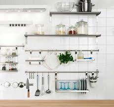 Wall Shelves Design For Kitchen Metal Wall Shelves Kitchen The Wall Metal Stips Open Shelves