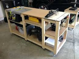 table saw router table table saw stand plans mobile woodworking workstation table saw