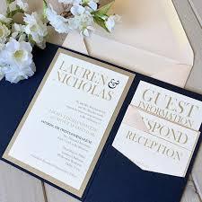 pocket invitations pocket invitations navy and blush invitations navy pocket