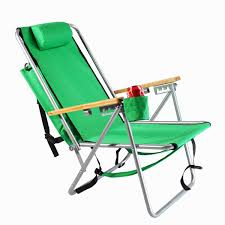 Folding Beach Lounge Chair Rio Brands Wearever Steel Hi Back Backpack Beach Chair Green I