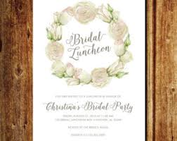 bridesmaids luncheon invitations bridal luncheon etsy