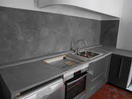 plan travail cuisine beton cire b ton cir cuisine meilleur de credence beton cire plan travail avec
