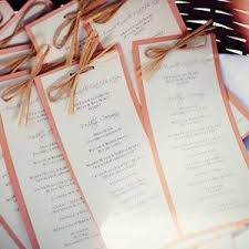 wedding program card stock casual rustic wedding programs this would be easy to make