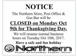 offices will be closed for thanksgiving day tlicho