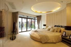 bedroom contemporary round bed design ideas modern orange lamp