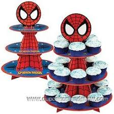 spiderman cupcake stand for kids u0027 party cardboard cupcake stand