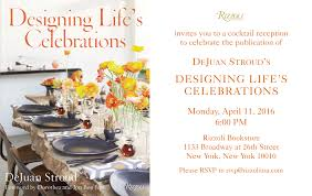 designing life u0027s celebrations book party and signing with dejuan