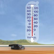 Patio Thermometer by Window Cling Thermometer Electro Optix Kts Indoor Thermometers