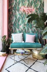 Tropical Colors For Home Interior Pink Turquoise Go Together Oh So Well In This Urban Jungalow